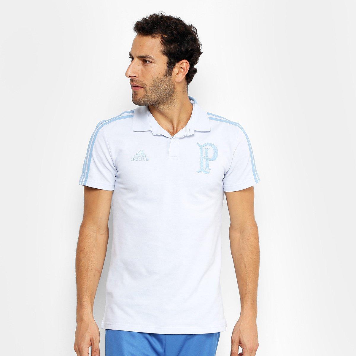 Camisa Polo Palmeiras Adidas Cotton Masculina - Azul e Marinho ... 41afb282b004f