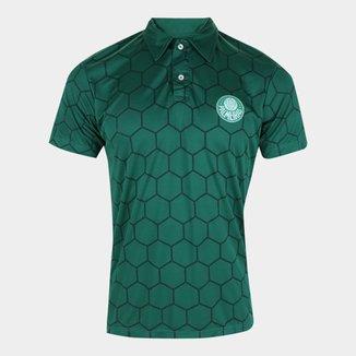 Camisa Polo Palmeiras Sublimada Ton Sur Ton Masculina