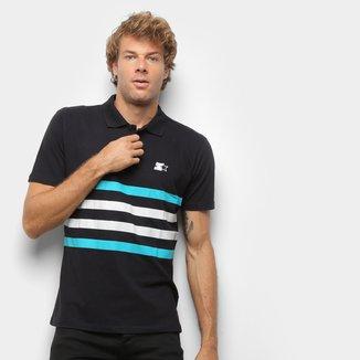 Camisa Polo Starter Piquet Listras Bicolor Masculina