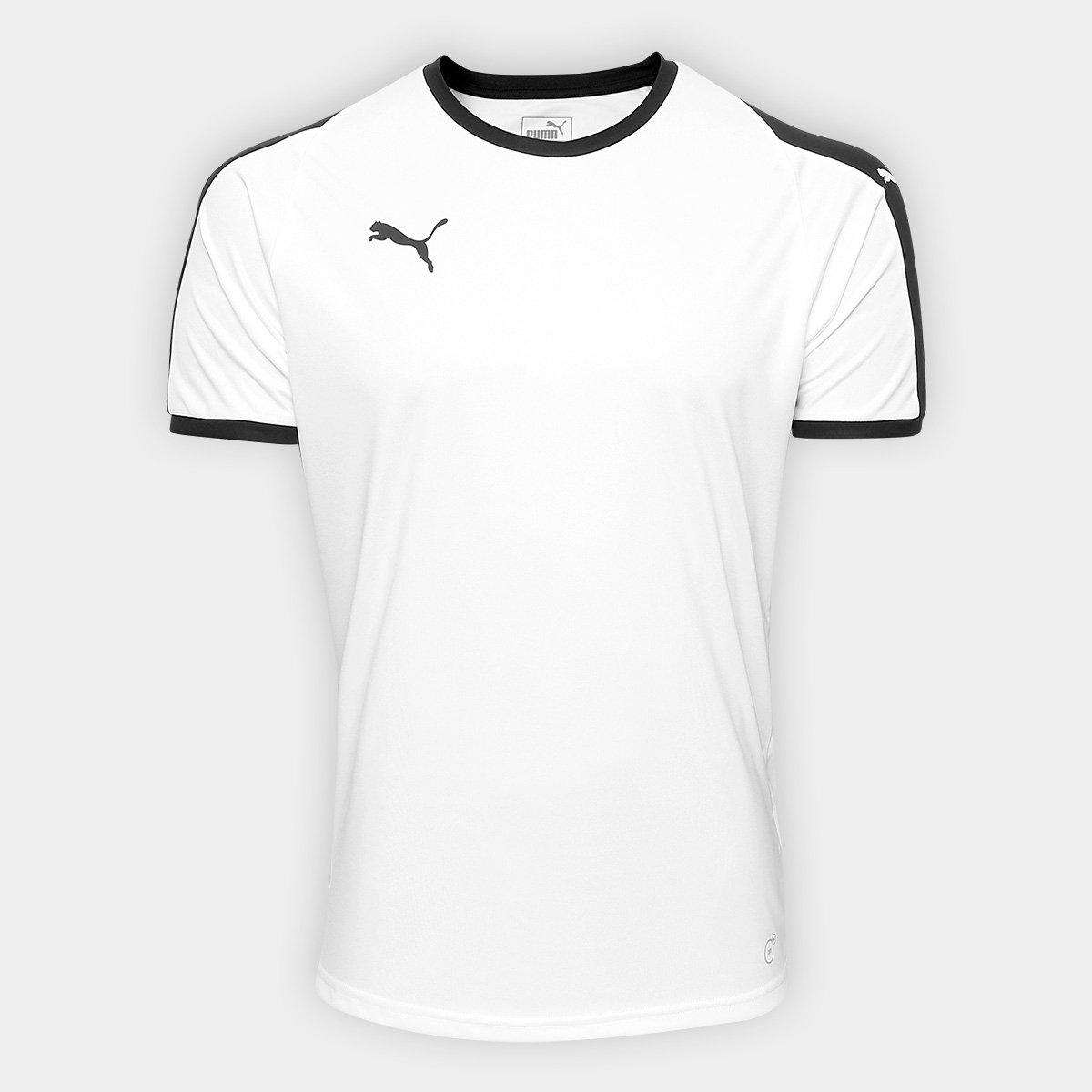 3bed7d0d22dde Camisa Puma Liga Jersey Masculina - Branco e Preto - Compre Agora ...
