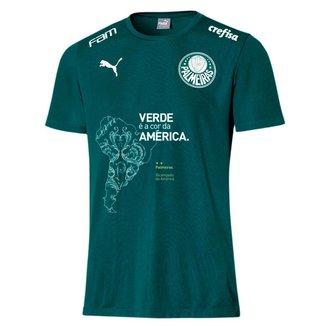 Camisa Puma Palmeiras Comemorativa Infantil - Verde