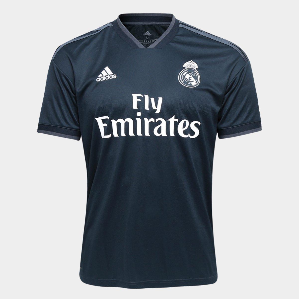 29cae853b Camisa Real Madrid Away 2018 s n° Torcedor Adidas Masculina - Azul Escuro -  Compre Agora