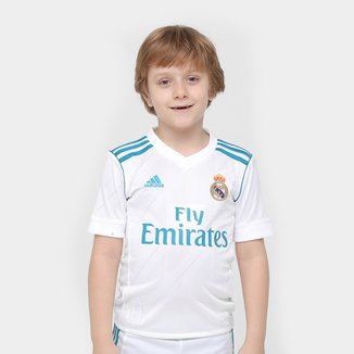 Camisa Real Madrid Infantil Home 17/18 Torcedor Adidas