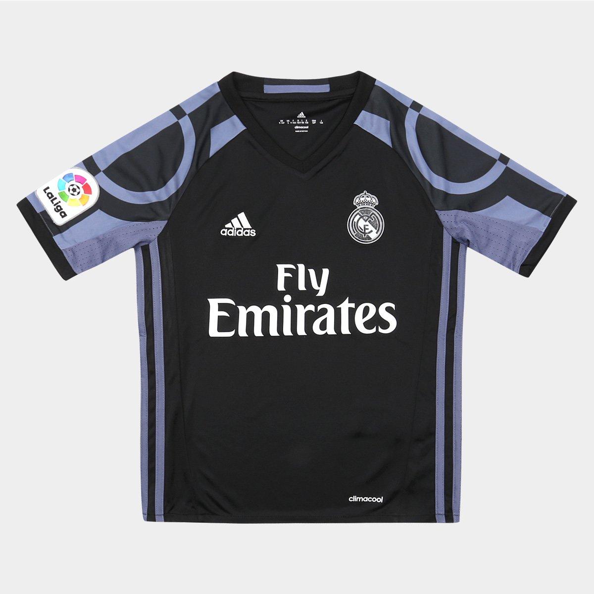 Camisa Real Madrid Infantil Third 16 17 s nº Torcedor Adidas - Compre Agora   02586a5e7215a