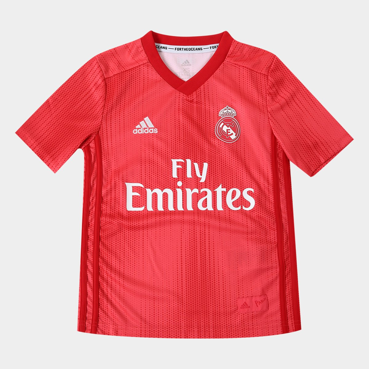 160fc1cc4b Camisa Real Madrid Infantil Third 2018 s/n° - Torcedor Adidas - Vermelho |  Allianz Parque Shop