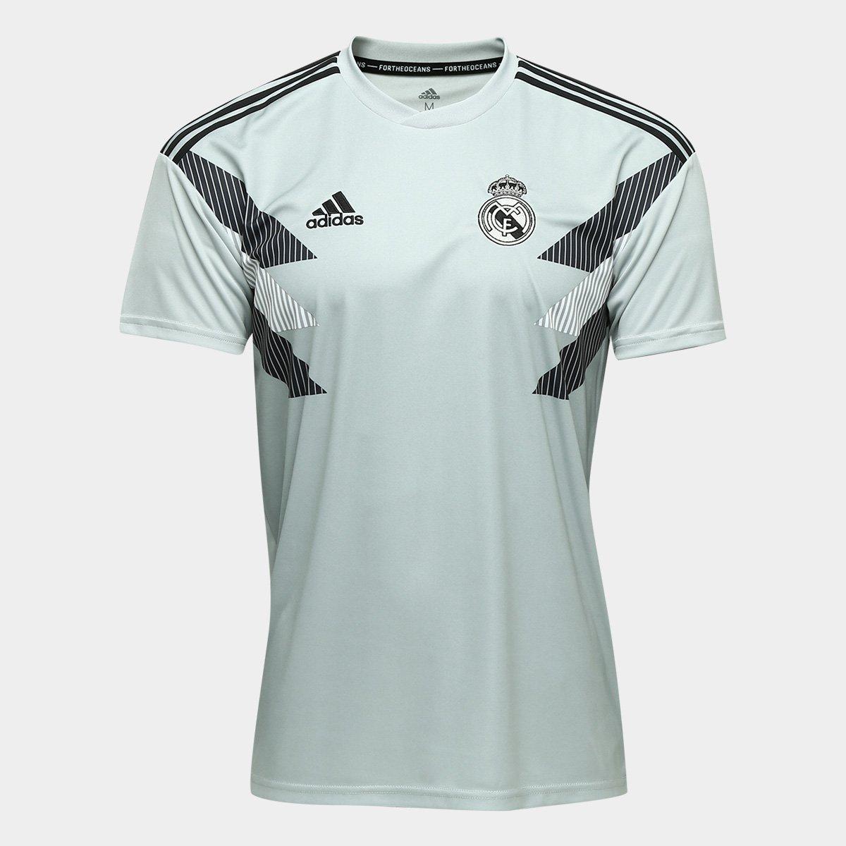 fa6192cc6c083 Camisa Real Madrid Pré-Jogo - Torcedor Adidas Masculina - Verde claro |  Allianz Parque Shop