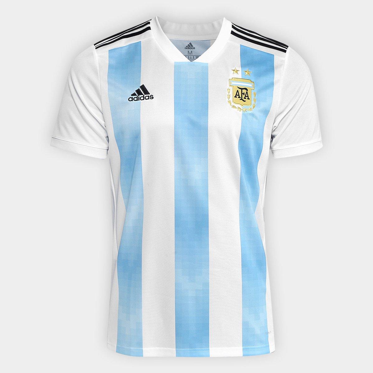 Camisa Seleção Argentina Home 2018 s n° Torcedor Adidas Masculina ... 9f92f97caf189
