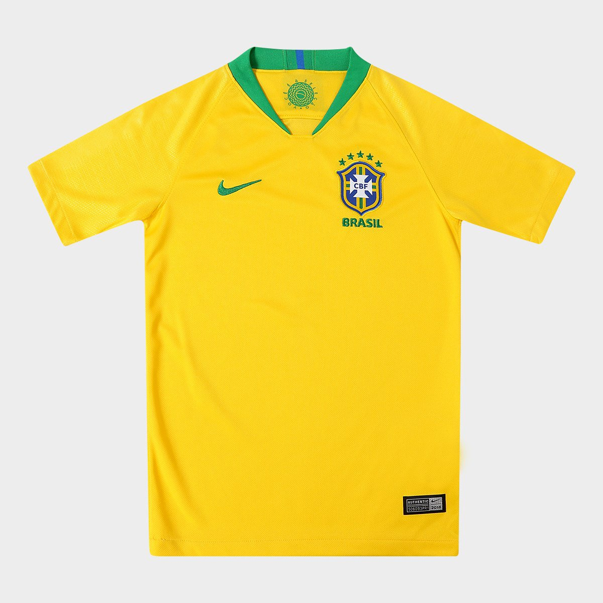 f827a2cd64 Camisa Seleção Brasil Juvenil I 2018 s n° - Torcedor Nike - Amarelo ...