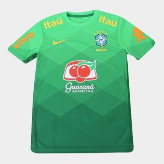 Camisa Seleção Brasil Juvenil Pré Jogo 20/21 Nike
