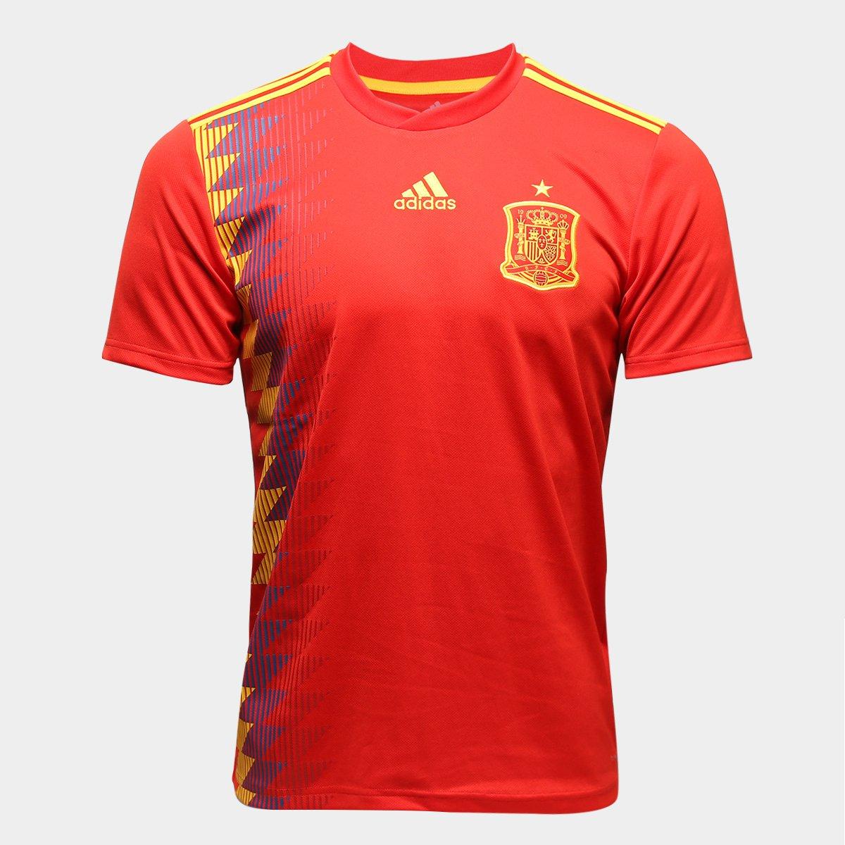 234f76e155 Camisa Seleção Espanha Home 2018 s n° Torcedor Adidas Masculina ...