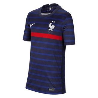 Camisa Seleção França Juvenil Home 20/21 s/n° Torcedor Nike
