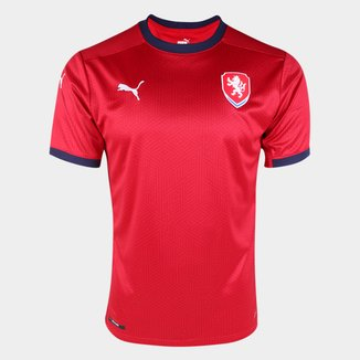 Camisa Seleção República Tcheca Home 20/21 s/n° Torcedor Puma Masculina