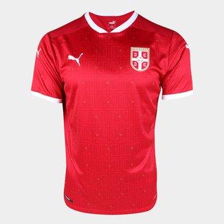 Camisa Seleção Sérvia Home 20/21 s/n° Torcedor Puma Masculina
