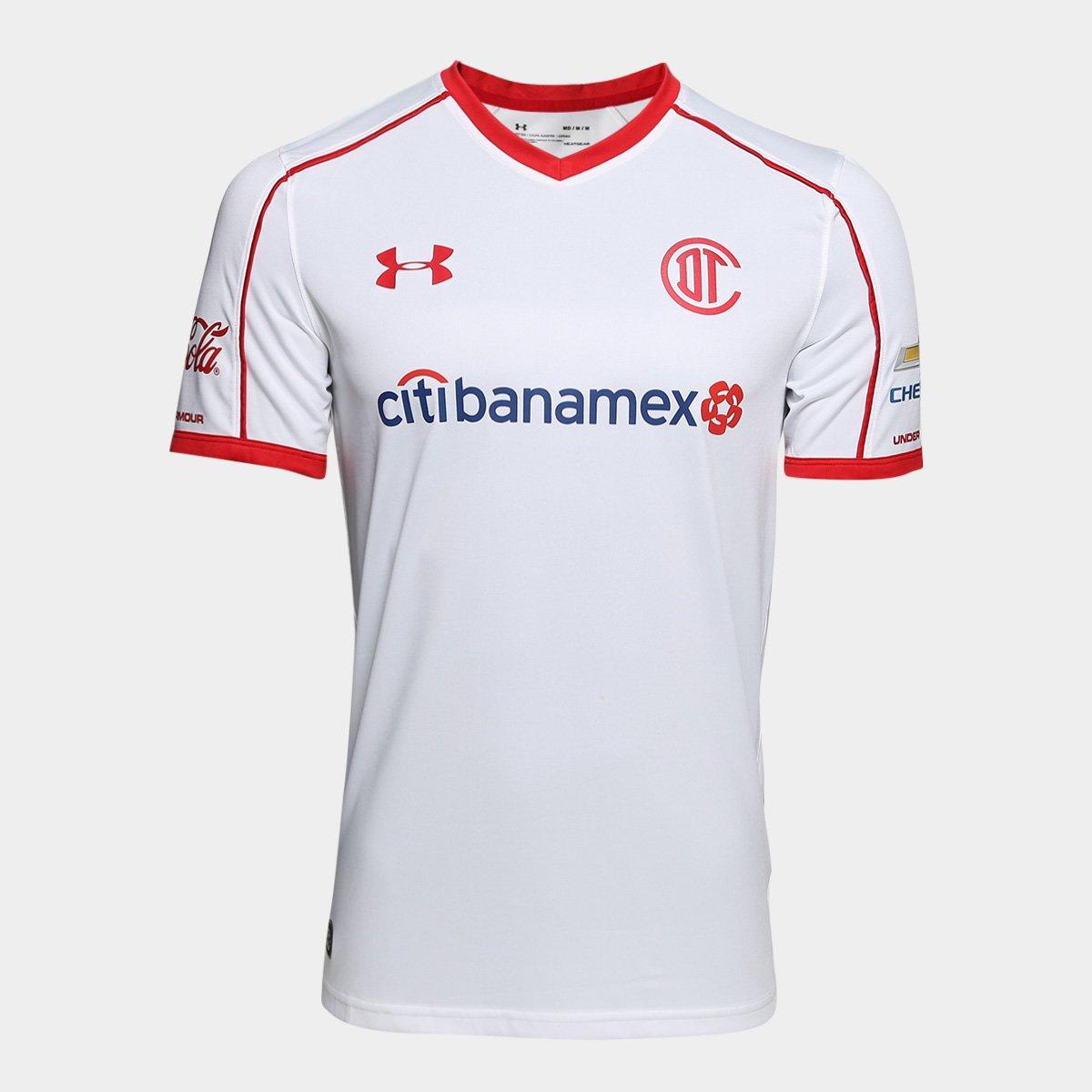 58cf55ce9 Camisa Toluca Away 17/18 s/n° - Torcedor Under Armour Masculina - Branco |  Allianz Parque Shop