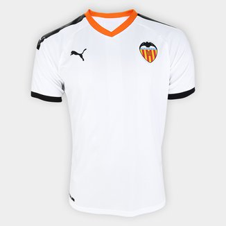 Camisa Valencia Home 19/20 s/nº Torcedor Puma Masculina