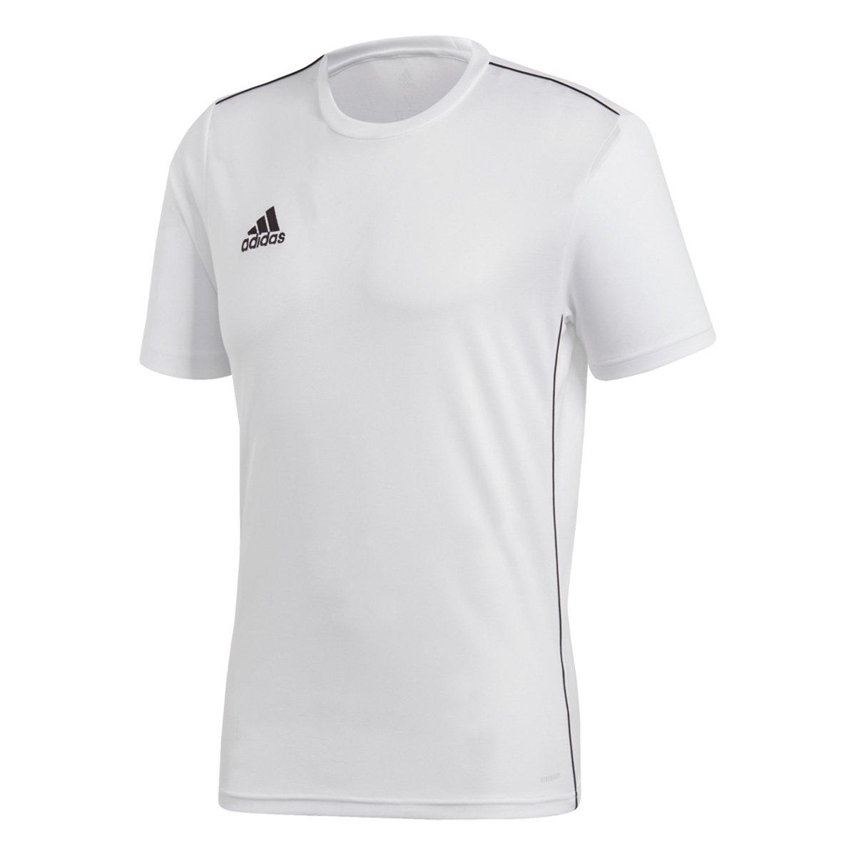 Camiseta Adidas Core 18 Masculina - Branco e Preto - Compre Agora ... 570b374309e