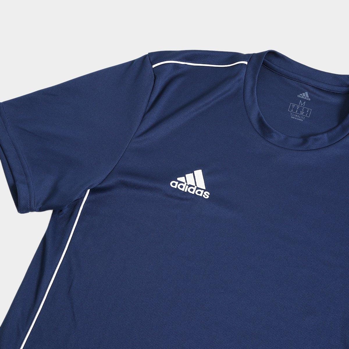 Camiseta Adidas Core 18 Masculina - Marinho e Branco - Compre Agora ... fcd20f3a8f9