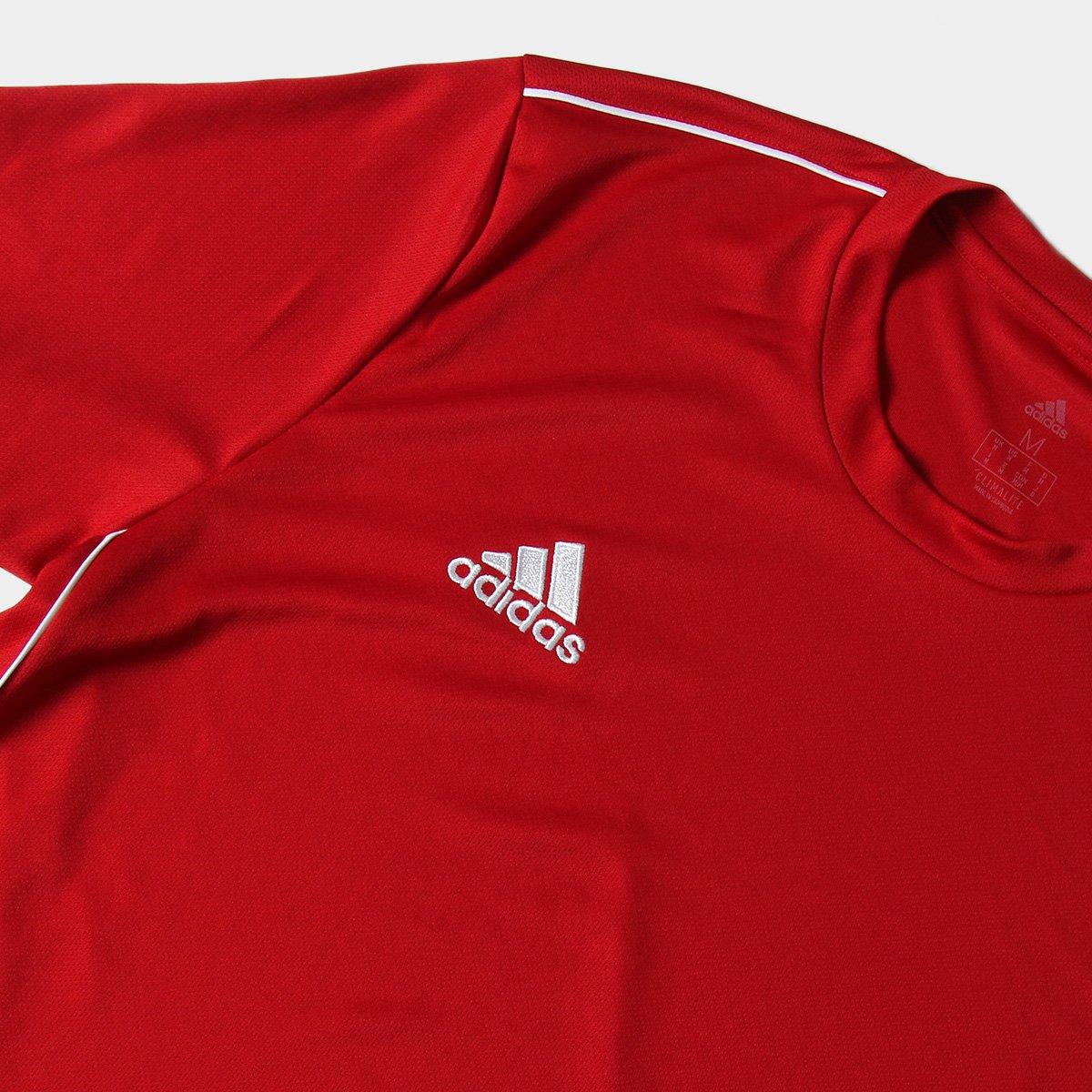 Camiseta Adidas Core 18 Masculina - Vermelho e Branco - Compre Agora ... 75703d3cceb