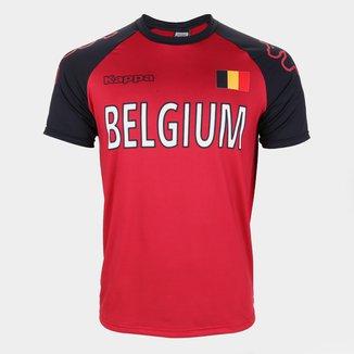 Camiseta Bélgica Logo Kappa Masculina