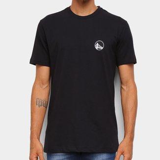 Camiseta Black Pack NBA Golden State Warriors New Era Logo Golwar Masculina