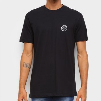 Camiseta Black Pack NBA Washington Wizards New Era Logo Waswiz Masculina