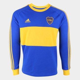 Camiseta Boca Juniors Icon Adidas Manga Longa Masculina