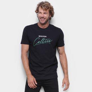 Camiseta Boston Celtics New Era Core Handsign Masculina