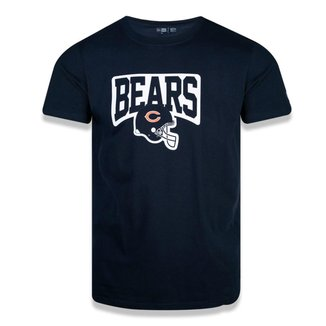 Camiseta Chigado Bears New Era Core Team Helmet Masculina