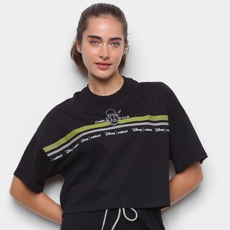 Camiseta Colcci Cropped Disney Donald Duck Feminina