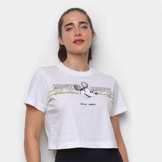 Camiseta Colcci Cropped Disney Mickey Mouse Feminina