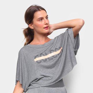 Camiseta Colcci Cropped Logo Linha Feminina