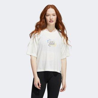 Camiseta Cropped Adidas Love Unite Feminina