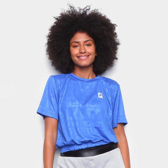 Camiseta Cropped Fila Sports Foward Feminina - Azul