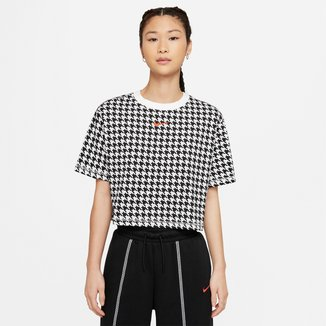 Camiseta Cropped Nike Nsw Icon Clash Mod Feminina