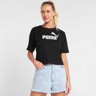Camiseta Cropped Puma Essentials Logo Feminina