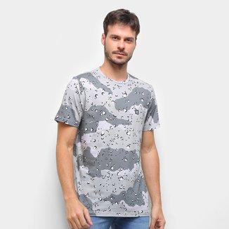 Camiseta Dc Shoes Chip Camuflada Masculina