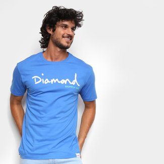 Camiseta Diamond Script Masculina