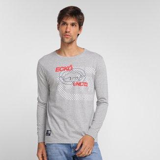 Camiseta Ecko Big Logo Manga Longa Masculina