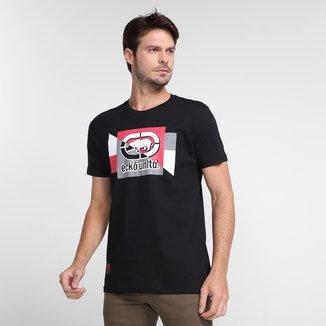 Camiseta Ecko Geométrico Rino Masculina