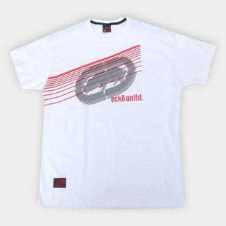 Camiseta Ecko Logo Lines Plus Size Masculina