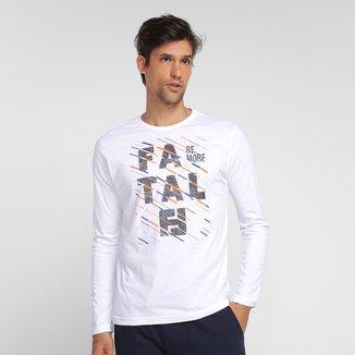 Camiseta Fatal Be More Manga Longa Masculina