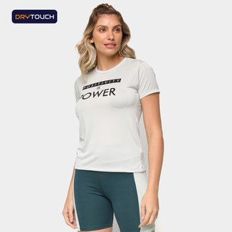 Camiseta Gonew Dry Touch Positivity Is Power Feminina