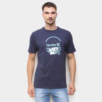 Camiseta Hurley Aqua Floral Masculina
