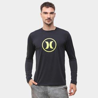 Camiseta Hurley Circle Icon Manga Longa Masculina