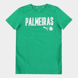 Camiseta Juvenil Palmeiras Wording Puma