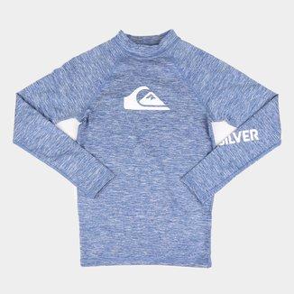 Camiseta Juvenil Quiksilver All Time Ls Masculina
