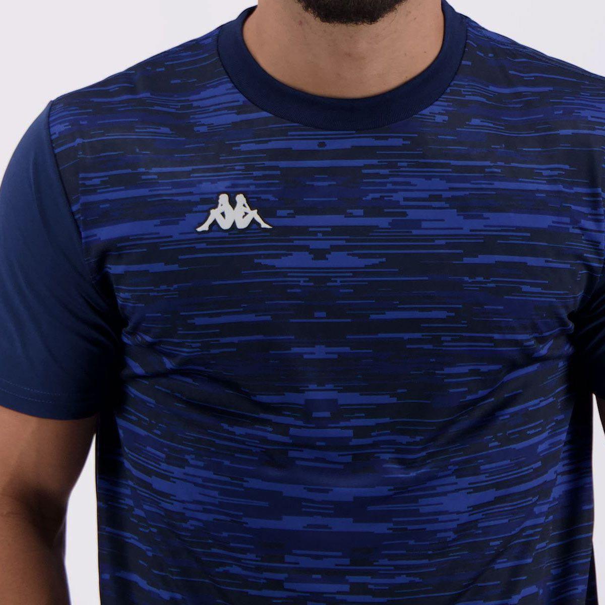 Camiseta Kappa Jenner Masculina - Marinho - Compre Agora  00ecf7df270d6