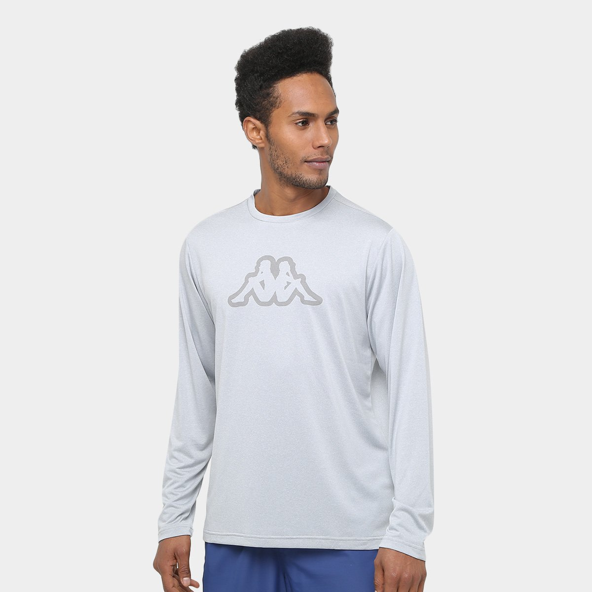 Camiseta Kappa Nassiri Manga Longa Masculina - Compre Agora ... 5c6619dc58f77