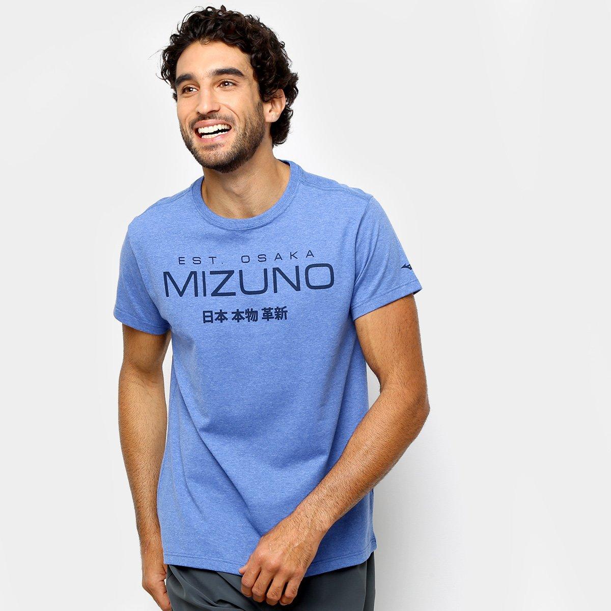 ca59e6c9a923a Camiseta Mizuno 1906 Kori Masculina - Azul e Cinza - Compre Agora ...