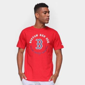 Camiseta MLB Boston Red Sox New Era College Baseball Nacional Masculina